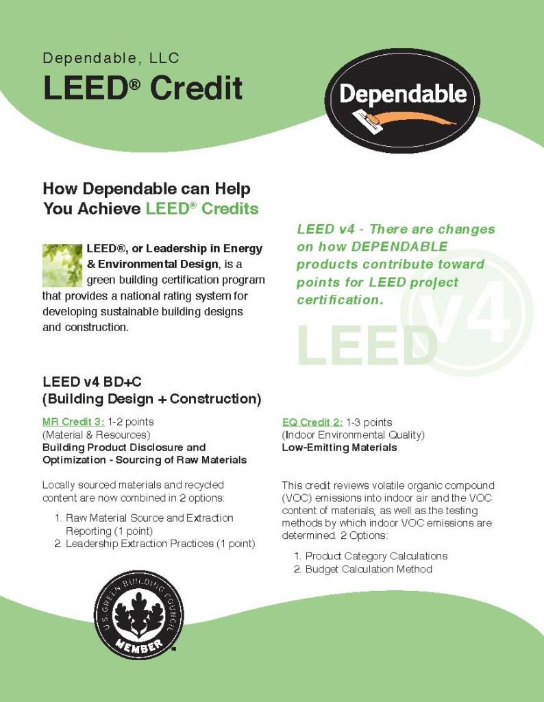 Dependable LEED Brochure_Page_1